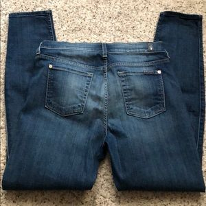 7 for all Mankind size 30 ankle skinny jeans